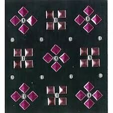 JOLEES BOUTIQUE - PINK PYRAMID STUDS 50-20776