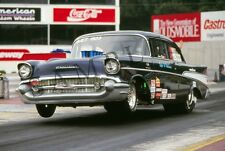 1957 '57 Chevy Pro-Stock Dragster Wheelstand Drag Racing 13x 19 Poster Photo 19b
