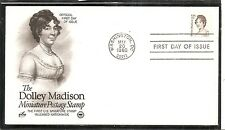 US SC# 1822 Dolley Madison FDC. Postal Commemorative Society  Cachet.