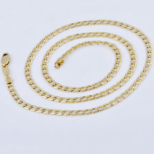 """Yellow Gold Filled Womens Mens Vintage Cuban Link Chain Necklace Long 19-20"""""""