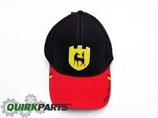 Volkswagen Driver Gear Black Red Flexfit Wolfsburg Cap Hat Genuine NEW DRG014035