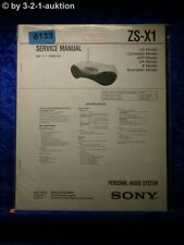 Sony Service Manual ZS X1 Audio System (#6133)
