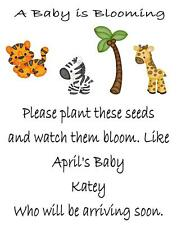 Baby Shower Seed Packets Favors Jungle 30 Quantity