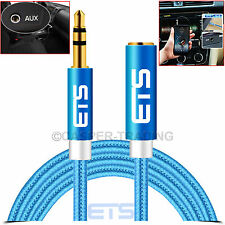 ®ETS 2M 3.5mm Jack Plug Extension AUX Cable Auxiliary Stereo Speakers Audio Lead