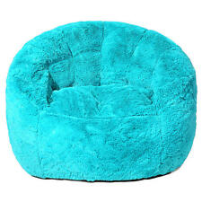 Faux Fur Bean Bag Chair - Teal