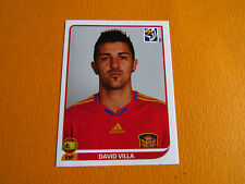 579 VILLA ESPAÑA ESPAGNE PANINI FOOTBALL FIFA WORLD CUP 2010 COUPE DU MONDE