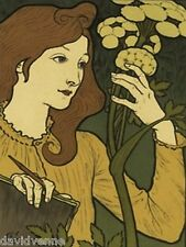 Salon des Cent by Eugene Grasset 9x12 inch image mono deluxe Needlepoint Canvas