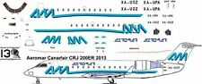 Aeromar Canadair CRJ 200 decals for Welsh 1/144 kits