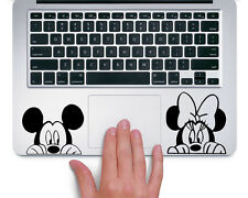 Mickey and Minnie Peeking Up Disney- Trackpad Macbook Laptop Vinyl Sticker Decal