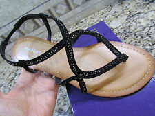 NEW STEVE MADDEN MADDEN GIRL KISSES BLACK  STRAPPY SANDALS WOMENS 9 FREE SHIP