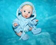 OOAK Polymer Clay Baby Boy Jointed  Sculpt by Marlo Elswick Baby Bright Eyes