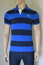 NEW Abercrombie & Fitch Little Moose Mountain Polo Shirt Blue Stripe M RRP £68