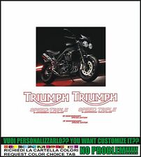 kit adesivi stickers compatibili trumph speed triple 15 anniversary s. edition