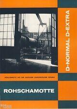 Bergbau Handel der DDR   Prospekt Rohschamotte für feuerfeste Erzeugnisse 1968
