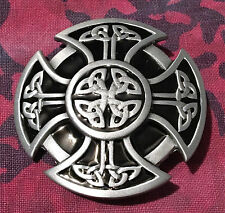 CELTIC SHIELD CROSS BELT BUCKLE NEW