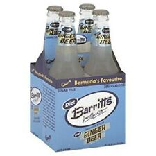 BARRITT'S DIET GINGER BEER 12 Oz - 4 Ct - (Sugar Free) Bermuda's Favourite!