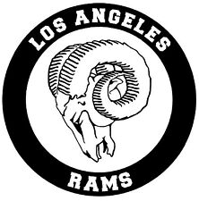 LOS ANGELES RAMS Vinyl Decal Sticker Window Wall Bumper Car Black