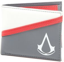 Assassin's Creed Crest Wallet (Grey/White/Red) | Official Gaming Merchandise