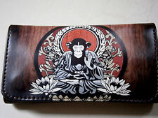 CHEEKY MONKEY ROLLING TOBACCO POUCH CASE WALLET FLOWERS FUNKY BUDDHA APE GEORGE
