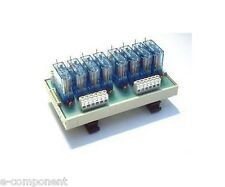 RL8 - Interfaccia a 8 Relè 24Vdc 16A con Led - Relay interface Omega Din