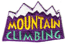 """""""MOUNTAIN CLIMBING""""  - Iron On Embroidered Applique Patch, Sports,Games, Hiking"""