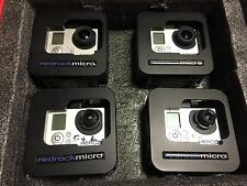 4-GOPRO HERO3 BLACK INTERCHANGEABLE LENSES RED ROCK 3d 5.4mm+Stock Lens 4-lcd's