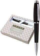 NEW CROSS DUBAI PEN AND PENCIL SET BLACK WITH CHROME APPOINTMENTS  AT0271-7