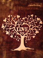 Corazón Amor de Madera Forma Árbol De Mdf De 240 Mm x 200 mm láser de corte de San Valentín Regalo en Blanco