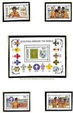 UGANDA BOY SCOUTS SCOTT #579-83 STAMP SET & SOUVENIR SHEET MNH VF 1987