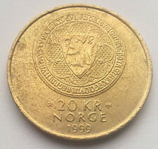 Norway: 20 Kroner coin commemorative coin since 1999. AKERSHUS 700 AD.