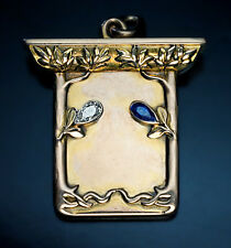 Russian Gold Art Nouveau Locket Pendant by Bolin