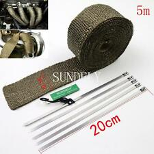 5M x 50MM EXHAUST HEADER PIPE TAPE WRAP INSULATION CLOTH FIREPROOF COOL AIR