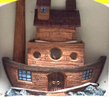 """Noah & Co. Hand Painted Crafted 6"""" Resin Noah's Ark Figurine Statue New in Box"""