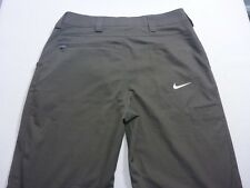 037 MENS EX-COND NIKE GOLF RELAXED FIT CHOC STRETCH PANTS 32 / 30 L $100 RRP.