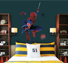 Cartoon Super Hero Spider-man Movie Wall Stickers Art Decals Kids Boy Room Decor