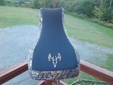 yamaha GRIZZLY KODIAC BRUIN  seat cover camo   BUCK SKULL LOGO  2000 & up