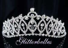 Silver Crystal MARADEL Bridal Prom Wedding TIARA *CLEARANCE SALE*