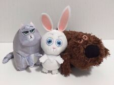 McDonald's Secret Life of Pets Plush Mini Toys Lot of 3 -Snowball, Chloe, Duke