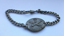 french first war  dog tag id disc with wrist chain artillery r police