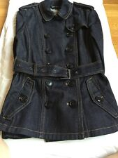 Authentic Burberry Brit Short Denim Trench Coat