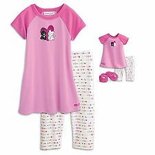 "American Girl CL MY AG SET I LOVE PETS PAJAMAS XS (6) for 18"" Dolls & Girls  NEW"