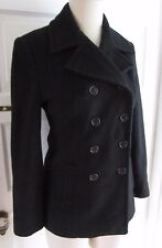 Jones New York Petite Wool Cashmere Double Breasted Peacoat Jacket Womens 4P USA