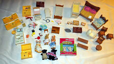 Calico Critters Woodzees Lot 60+ Pieces Furniture Accessories Sylvanian Epoch
