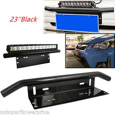 23'' Car SUV Bull Bar Front Bumper License Plate Bracket Mount For Working Light