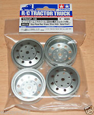 Tamiya 56518 Metal-Plated Rear Wheels (22mm Width/Matte Finish) (Scania/MAN)