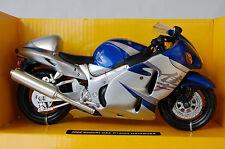 SUZUKI  HAYABUSA  GSX1300R  1/12th   DIECAST  MODEL  MOTORCYCLE  BLUE