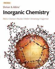 ORIGINAL & NEW Inorganic Chemistry by Shriver and Atkins (5E 5/E 5th Edition)