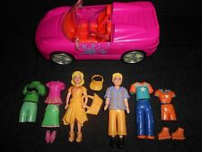 Polly Pocket Fashion Dolls - Boy & Girl Dolls with Clothes, Shoes, & Vehicle