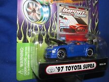 97 TOYOTA SUPRA muscle machine Import tuner 1/64 blue  furious street race