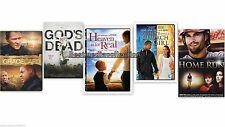5 Pack Heaven Is For Real - Gods Not Dead -The Grace Card Home Run DVD NEW
